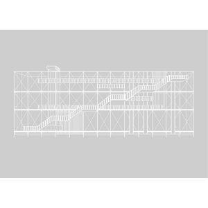 Kristina Dam Pompidou Juliste Harmaa 50x70 Cm