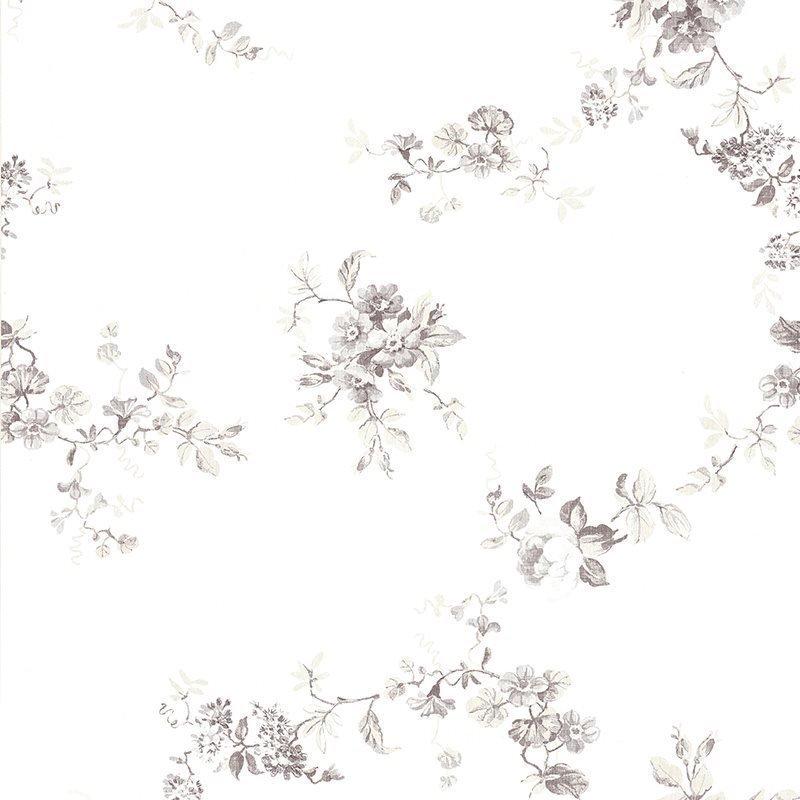 Kuitutapetti Tekstiili Blomma Valkoinen Harmaa