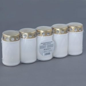Kynttilä-Tuote Hautakynttilä Sadesuojalla 5 Kpl