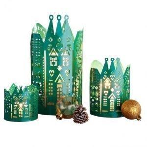 Kynttilälyhty 3-Pakkaus Vihreä