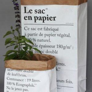 Le Sac Petit En Papier Paperipussi Valkoinen