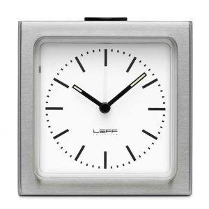 Leff Amsterdam Leff Block Pöytäkello Alarm Index Valkoinen / Teräs
