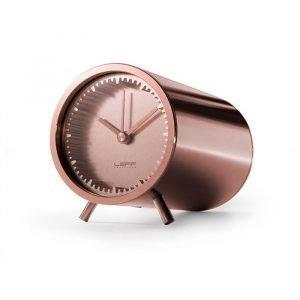 Leff Amsterdam Leff Tube Clock Kuparipinnoitettu Teräs