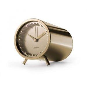 Leff Amsterdam Leff Tube Clock Pöytäkello Messinkipinnoitettu Teräs
