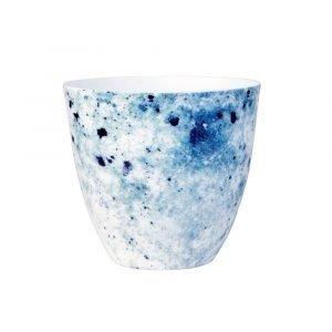 Lene Bjerre Abriana Lämpökynttilänpidike 6 Valkoinen / Sininen