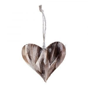 Lene Bjerre Adelaide Ornament Sydän Sementti / Taupe