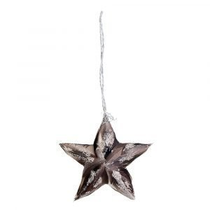 Lene Bjerre Adelaide Ornament Tähti Sementti / Taupe