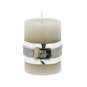Lene Bjerre Candle Kynttilä Hopeanharmaa Small