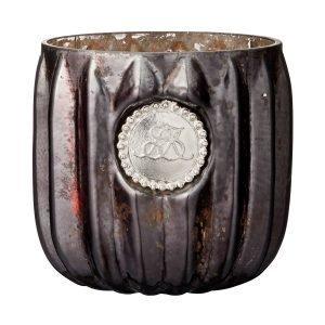 Lene Bjerre Dante Kynttilälyhty Antique Black 6x7 Cm