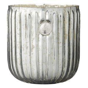 Lene Bjerre Dante Kynttilälyhty Silver Green 16x17 Cm