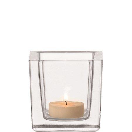 Leonardo Cube Kynttilälyhty Valkoinen