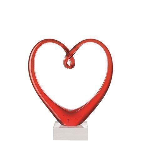 Leonardo Heart Veistos Punainen
