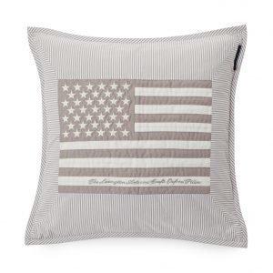 Lexington Flag Arts & Crafts Tyynynpäällinen Harmaa / Valko