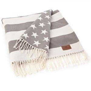 Lexington Flag Viltti Valkoinen / Harmaa 130x170 Cm