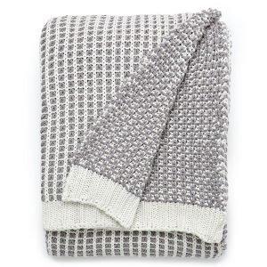 Lexington Knitted Huopa Valkoinen / Harmaa 130x170 Cm