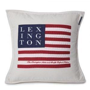Lexington Logo Art & Crafts Tyynynpäällinen Beige / Valkoinen