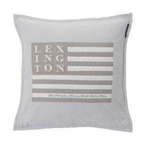 Lexington Logo Art & Crafts Tyynynpäällinen Harmaa / Valko