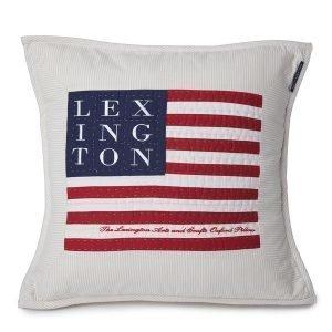 Lexington Logo Arts & Crafts Tyynynpäällinen Beige / Valkea