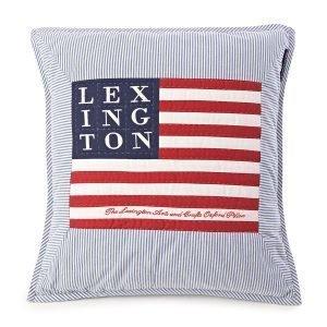 Lexington Logo Arts & Crafts Tyynynpäällinen Sininen / Valkea
