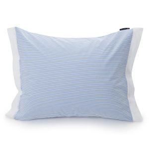 Lexington Poplin Striped Tyynyliina Sininen / Valkoinen 50x60 Cm