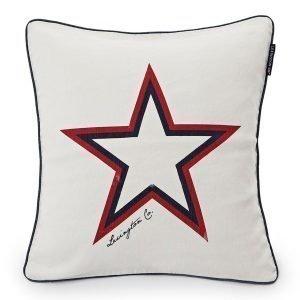 Lexington Star Tyynynpäällinen Valkoinen 50x50 Cm