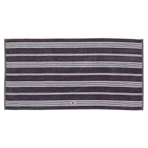 Lexington Striped Velour Pyyheliina Charcoal 50x70 Cm