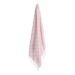 Lidby Living Hamam Cross Pyyhe Dusty Pink 100x155 Cm