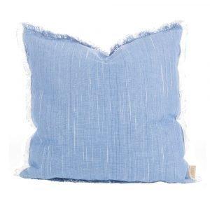 Lidby Living Plain Washed Tyynynpäällinen Sininen 50x50 Cm