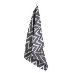 Lidby Living Zigzag Keittiöpyyhe Musta / Valkoinen 50x62 Cm