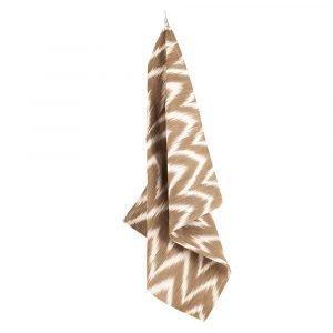 Lidby Living Zigzag Keittiöpyyhe Ruskea / Valkoinen 50x62 Cm