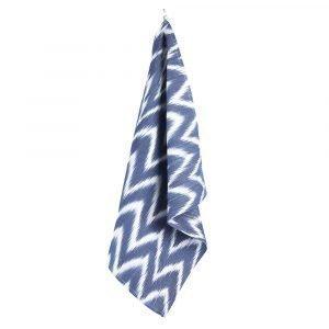 Lidby Living Zigzag Keittiöpyyhe Sininen / Valkoinen 50x62 Cm