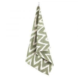 Lidby Living Zigzag Keittiöpyyhe Vihreä / Valkoinen 50x62 Cm