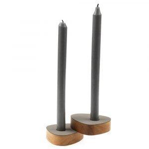 Lind Dna Curve Kynttilänjalka Light Grey 2-Pakkaus