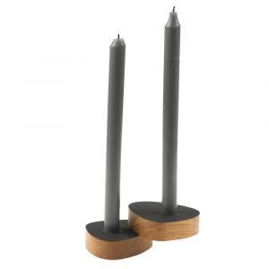 Lind Dna Curve Kynttilänjalka Musta 2-Pakkaus