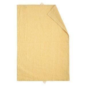 Linum Hedvig Keittiöpyyhe Mustard Yellow 50x70 Cm