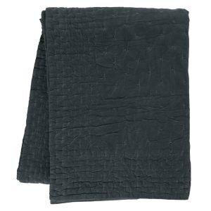 Linum Paolo Päiväpeitto Dark Charcoal Grey 270x260 Cm