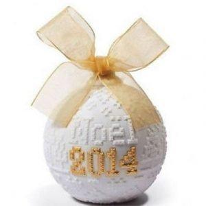 Lladro 2014 Christmas Ball Re Deco