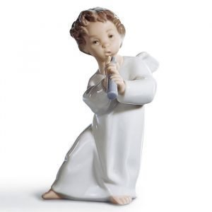 Lladro Angel With Flute