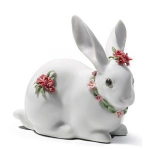 Lladro Attentive Bunny Carnations