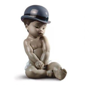 Lladro Boy With Bowler Hat