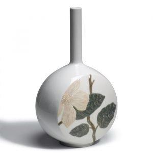 Lladro Canvas Vase Flower Twig