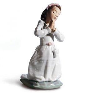 Lladro Communion Prayer Girl