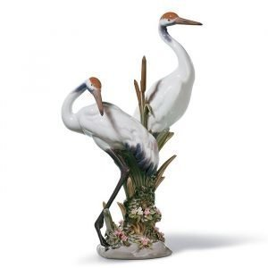 Lladro Courting Cranes
