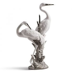 Lladro Courting Cranes Re Deco
