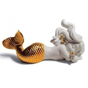 Lladro Day Dreaming At Sea Golden Re Deco