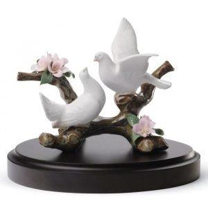 Lladro Doves On A Cherry Tree