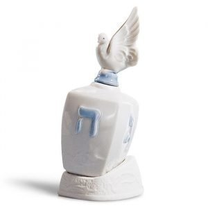 Lladro Dreidel With Dove