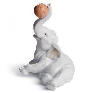 Lladro Elephant Basket