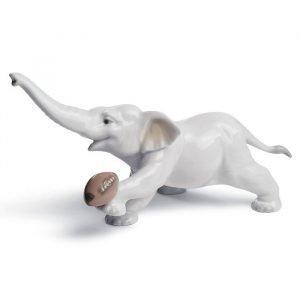 Lladro Elephant Touchdown