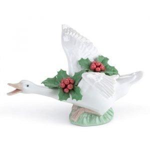 Lladro Flying Duck With Mistletoe